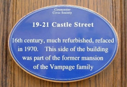 Blue Plaque in Cirencester