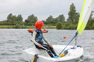 Watersports near Cirencester in the Gloucestershire Cotswolds