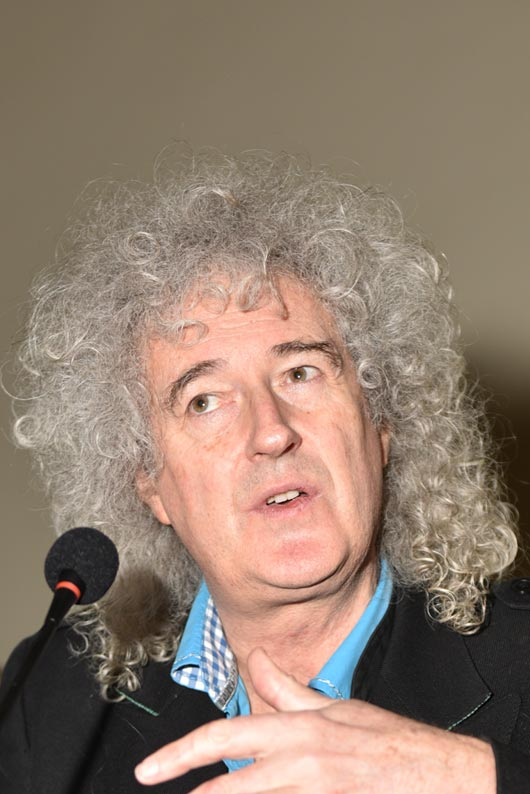 Brian May unveils blue plaque for Cozy Powell