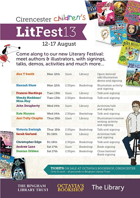 Summer holiday fun with Cirencester Children's Literary Festival 12-17 August 2013