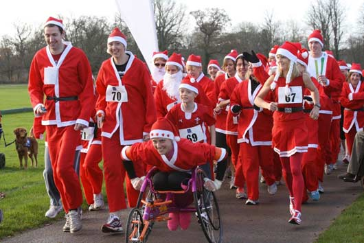 Santa Fun Run in Cirencester To Raise Cash For Canine Partners