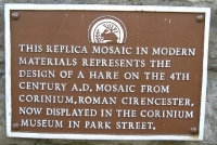 Mosaic sign in Cirencester