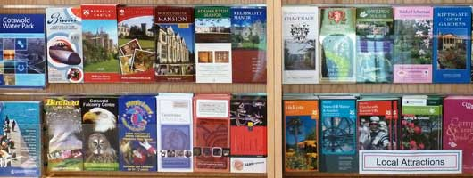 Leaflets at the Visitor Information Centre in Cirencester