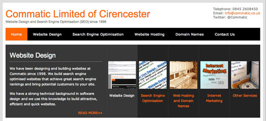 Website Design in Cirencester - Commatic Limited