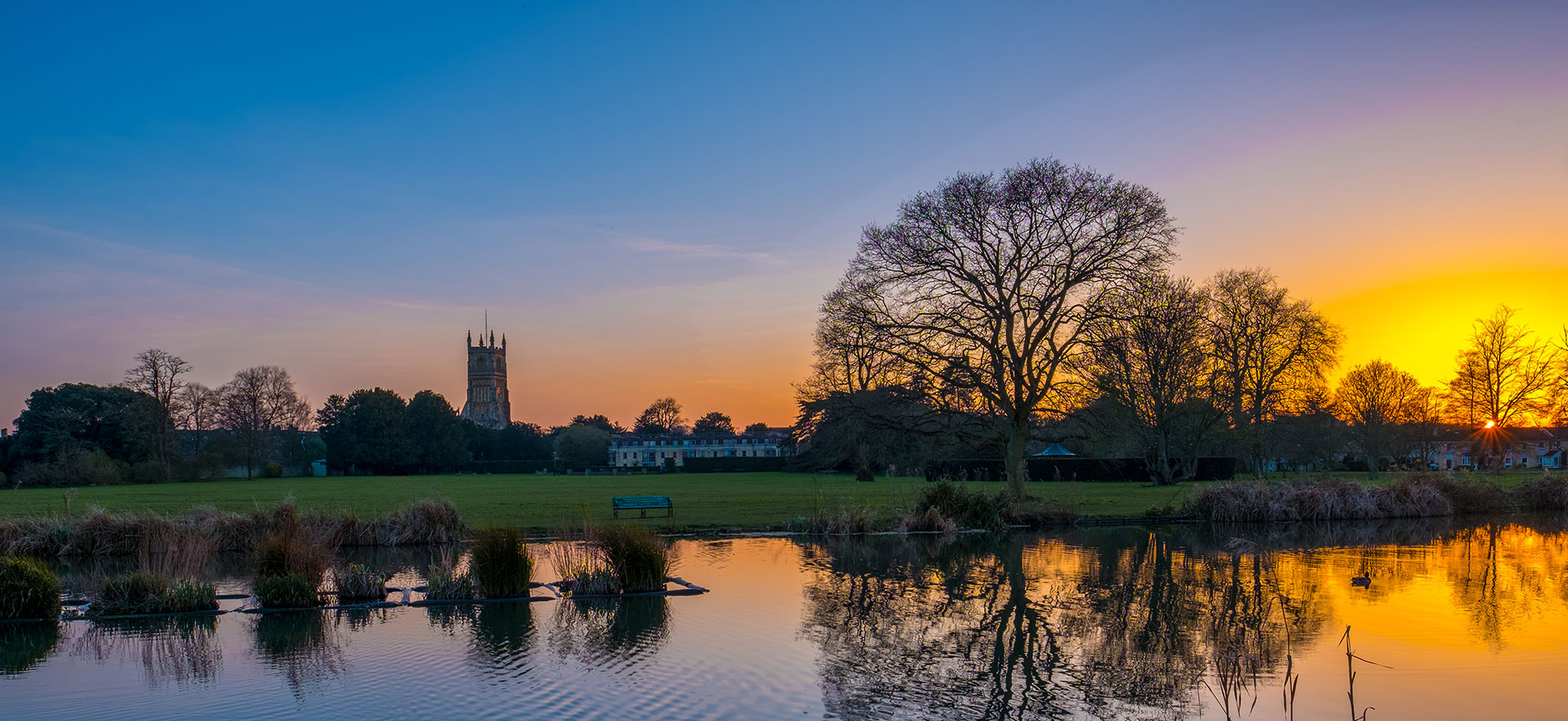 Sunset over the Abbey Grounds, Cirencester