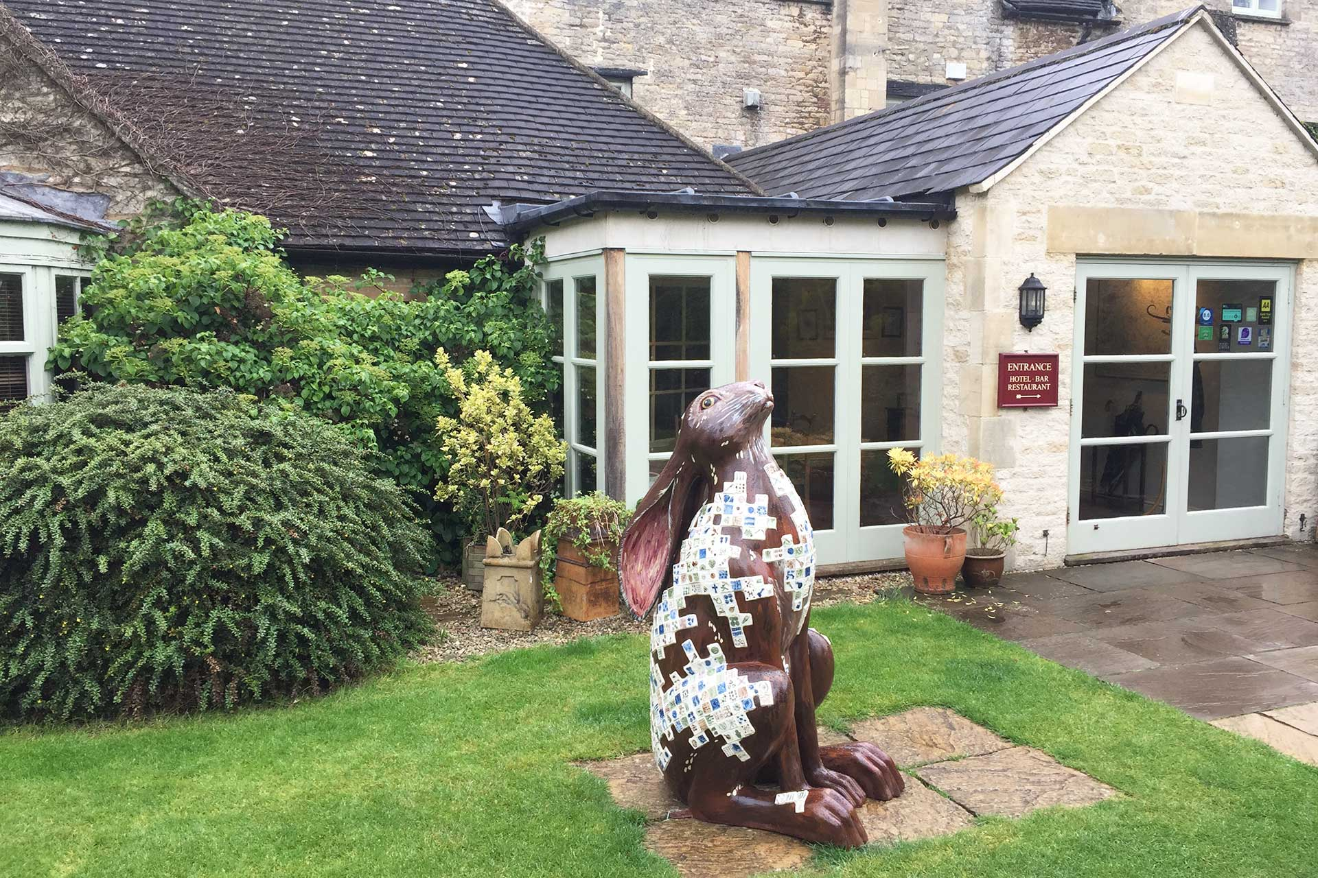 Cotswold Hare Trail - Hare at The Corinium Hotel in Cirencester