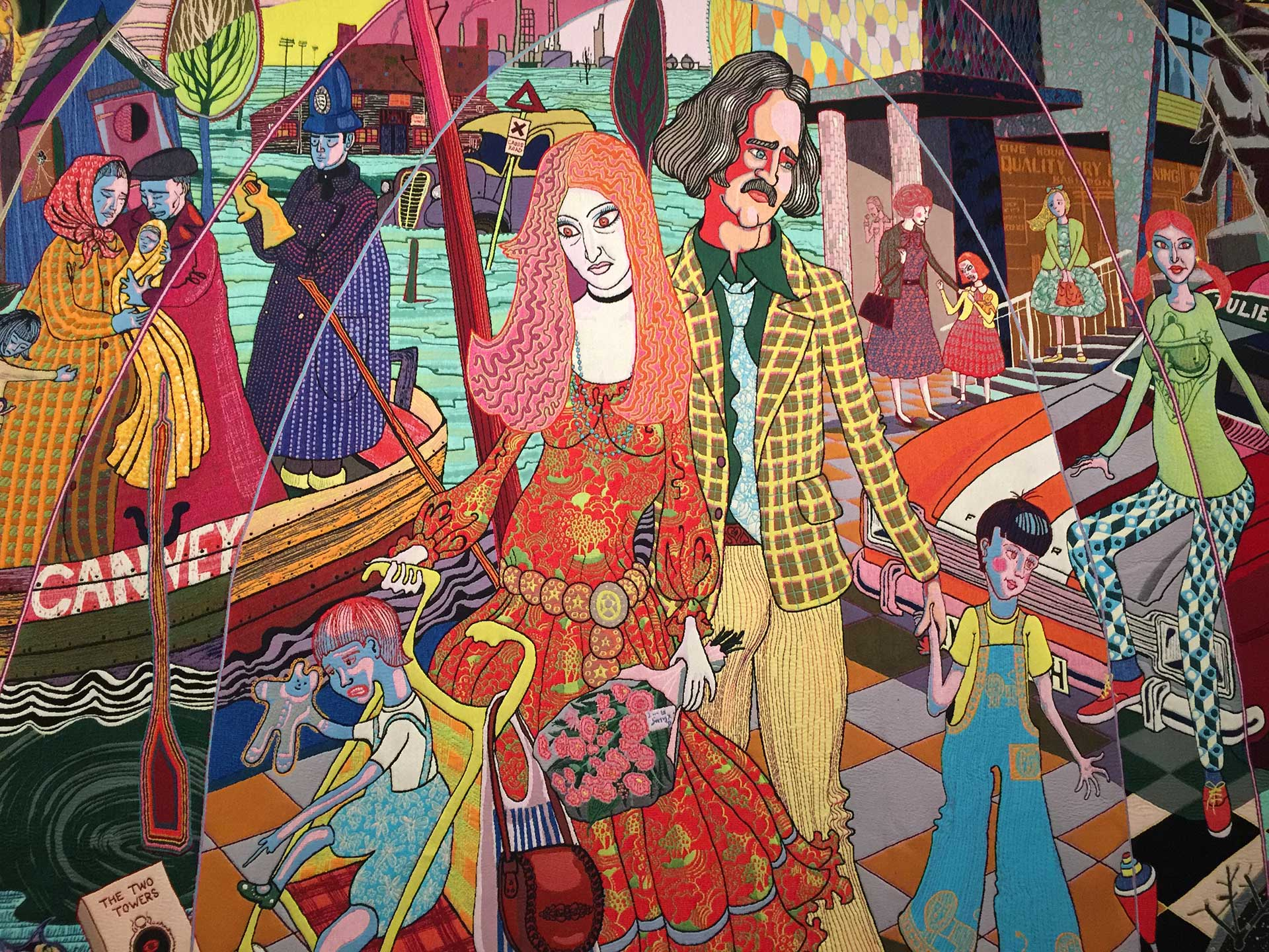 The Story of a Life by Grayson Perry, currently on display at New Brewery Arts in Cirencester