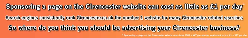 Sponsor a page on the Cirencester website