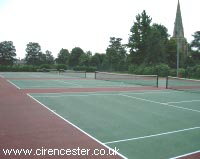 Tennis courts at St. Michael's Park, Cirencester