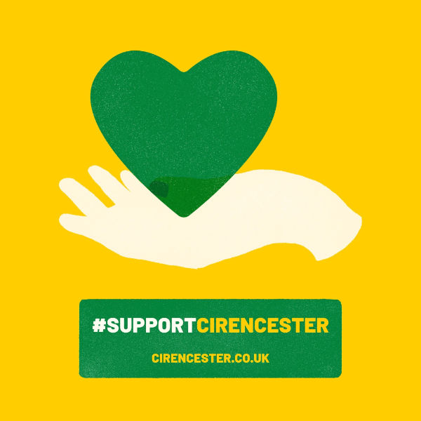 Support Cirencester - Hand and heart logo